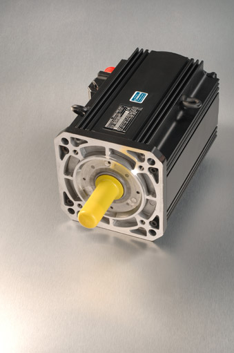 Indramat MDD new servo motor unit with silver background