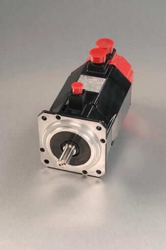 Fanuc servo motor with grey background
