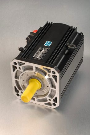 Indramat MDD servo motor like-new with silver background