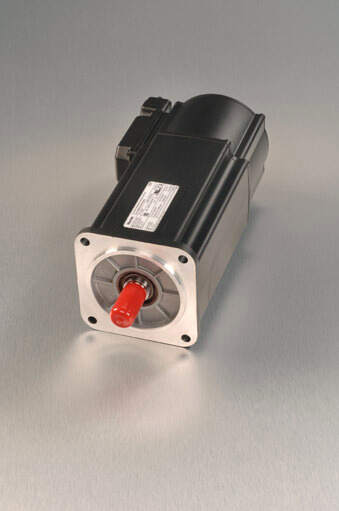 Indramat MKD servo motor like-new with silver background