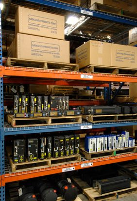 Kollmorgen servo system inventory in Magna Product's warehouse